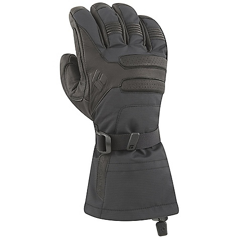 Free Shipping. Black Diamond Men's Vision Glove DECENT FEATURES of the Black Diamond Men's Vision Glove 3-layer nylon ripstop shell fabric Removable high-loft fleece liner Full goat leather palm patch Wrist strap closure to seal out the elements The SPECS Type: Unisex Weight: per pair: 7.3 oz / 208 g Temperature Range: 20/35deg F / -7/2deg C - $99.95