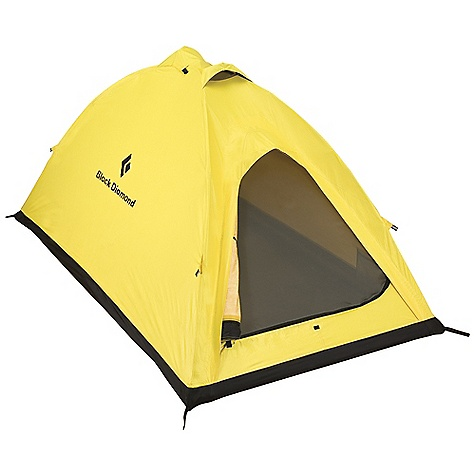 Camp and Hike Free Shipping. Black Diamond Eldorado 2 Person Tent FEATURES of the Black Diamond Eldorado Tent 2-person spacious version of I-Tent; 13 cm (5in.) longer and 8 cm (3in.) wider Single-door entry and optional vestibule for gear storage 2 internal aluminum poles for easy setup 2 zippered vents at the peak, a hooded vent over the door and one at the bottom ToddTex single-wall fabric 100% seam taped Optional ground cloth available - $699.95