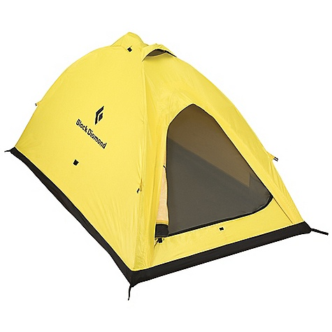 Camp and Hike Free Shipping. Black Diamond I-Tent 2 Person Tent DECENT FEATURES of the Black Diamond I-Tent Ultra-strong, lightweight 2-person design with efficient footprint Single-door entry and optional vestibule for gear storage 2 internal aluminum poles for easy setup 2 zippered vents at the peak, a hooded vent over the door and one at the bottom ToddTex single-wall fabric; 100% seam taped Optional ground cloth available The SPECS Capacity: 2 Person Season: 4 Doors: 1 Average Packaged Weight: 4 lbs 14 oz / 2.2 kg Minimum Weight: 4 lbs 5 oz / 1.95 kg Dimension: (L x W1 x W2 x H): 82 x 48 x 48 x 42in. / 208 x 123 x 123 x 107 cm Area: 27.3 square feet / 2.5 square meter Vestibule Area: Optional Packed Size: 6 x 19in. / 15 x 48 cm - $599.95