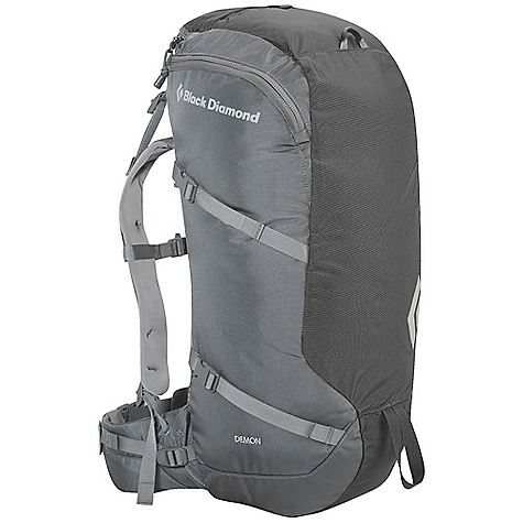 Climbing Free Shipping. Black Diamond Demon Pack DECENT FEATURES of the Black Diamond Demon Pack Removable 20 mm aluminum stay and framesheet Padded hipbelt Zippered top-load access with guidebook pocket Tuck-away rope strap at top of pack Ice axe, trekking pole loop Hydration compatible The SPECS Type: Unisex 840d/1260d Ballistic nylon The SPECS for Small Volume: 1,953 cubic inches / 32 liter Average Stock Weight: 2 lbs 5 oz / 1.04 kg The SPECS for Medium Volume: 2,075 cubic inches / 34 liter Average Stock Weight: 2 lbs 7 oz / 1.1 kg The SPECS for Large Volume: 2,197 cubic inches / 36 liter Average Stock Weight: 2 lbs 9 oz / 1.17 kg OVERSIZE ITEM: We cannot ship this product by any expedited shipping method (3-Day, 2-Day or Next Day). Even if you pick that option, it will still go Ground Shipping. Sorry for being so mean. - $129.95