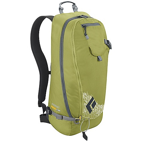 Camp and Hike On Sale. Free Shipping. Black Diamond Agent Pack DECENT FEATURES of the Black Diamond Agent Pack Large zippered front-panel opening Unique diagonal ski-carry cable for fast and secure attachment Tuck-away helmet carrying sling Dedicated avy-tool organizer pocket Insulated hydration sleeve The SPECS Material: Tough 420d nylon and 840d Ballistic nylon The SPECS for S/M Volume: 1,098 cubic inche / 18 liter Average Stock Weight: 2 lbs / 900 g The SPECS for M/L Volume: 1,220 cubic inche / 20 liter Average Stock Weight: 2 lbs 3 oz / 980 g - $69.99