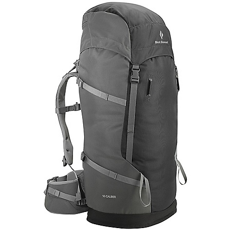 Camp and Hike Free Shipping. Black Diamond 50 Caliber Pack DECENT FEATURES of the Black Diamond 50 Caliber Pack 5 mm aluminum V-Flex suspension Padded shoulder straps and removable dual-density hipbelt Top-loading with floating top pocket Tuck-away rope strap Haul bag-style bottom keeps bag standing upright for easy loading Hydration compatible The SPECS Type: Unisex 1260d Ballistic nylon, non-PVC tarpaulin The SPECS for Small Volume: 3,051 cubic inches / 50 liter Average Stock Weight: 3 lbs 3 oz / 1.46 kg The SPECS for Medium Volume: 3,175 cubic inches / 52 liter Average Stock Weight: 3 lbs 5 oz / 1.51 kg The SPECS for Large Volume: 3,295 cubic inches / 54 liter Average Stock Weight: 3 lbs 8 oz / 1.59 kg OVERSIZE ITEM: We cannot ship this product by any expedited shipping method (3-Day, 2-Day or Next Day). Even if you pick that option, it will still go Ground Shipping. Sorry for being so mean. - $169.95