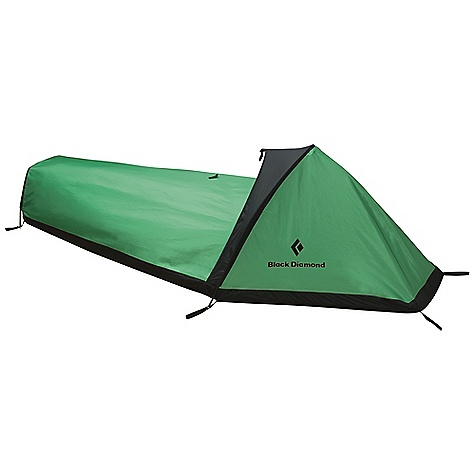 Camp and Hike Free Shipping. Black Diamond Tripod Bivy DECENT FEATURES of the Black Diamond Tripod Bivy 3 aluminum poles create space above head and feet Half-moon zippered entry for easy access Large mesh panel for bugs and ventilation ToddTex single-wall fabric Taped seams Optional ground cloth available The SPECS Season: 4 Average Packaged Weight: 3 lbs / 1.35 kg Dimension: 92 x 30 x 25in. / 221 x 89 x 64 cm Area: 20 square feet / 1.9 square meter Weight: 2 lbs 10 oz / 1.18 kg Packed Size: 6 x 15in. / 15 x 38 cm - $299.95