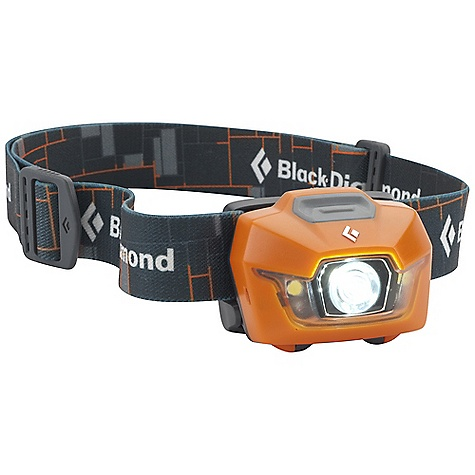 Camp and Hike Free Shipping. Black Diamond Storm Headlamp DECENT FEATURES of the Black Diamond Storm Headlamp 1 TriplePower LED, 2 SinglePower white LEDs and 2 SinglePower red LEDs emit 100 lumens (max setting) Red night-vision mode has proximity and strobe settings, and activates without cycling through the white mode Sleek, low profile design uses 4 AAA batteries Settings include full strength in proximity and distance modes, dimming, strobe, red night vision and lock mode Three-level power meter shows remaining battery life for 3 seconds after switching on headlamp Protected against water immersion down to 1 m (3.3 ft) for 30 minutes (IPX 7) The SPECS Led Type: 1 TriplePower / 2 SinglePower Max Lumens: 100 / 25 Max Distance(S) ON Highest Setting: 70 m / 7m Max Distance(S) ON Lowest Setting: 3m / 2m Max Burntime(S) ON Highest Setting: 50H / 36H Max Burntime(S) ON Lowest Setting: 200H / 125H Batteries: 4 AAA (included) Weight With Batteries: 3.9 oz / 110 g Case Pack Quantity: 10 Retail Package Dimension: 4.1 x 4.5 x 2in. / 10.5 x 11.5 x 5 cm - $49.95