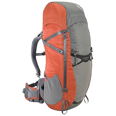 Free Shipping. Black Diamond Infinity 60 Pack DECENT FEATURES of the Black Diamond Men's Infinity 60 Pack ergoACTIV suspension with OpenAir backpanel Top-loading with floating top pocket Soft, Breathable 3D mesh on shoulder straps and removable, Interchangeable hipbelt (tool included) Hipbelt stash pocket, Side stretch pockets and front compression stretch pocket Retractable trekking pole/ice axe loops, Removable sleeping pad straps, Hydration compatible Also available as women's-specific Innova The SPECS 210d nylon ripstop, 420d nylon twill The SPECS for Medium Volume: 3,660 cubic inches / 60 liter Average Stock Weight: 3 lbs 13 oz / 1.74 kg The SPECS for Large Volume: 3,845 cubic inches / 63 liter Average Stock Weight: 3 lbs 14 oz / 1.78 kg OVERSIZE ITEM: We cannot ship this product by any expedited shipping method (3-Day, 2-Day or Next Day). Even if you pick that option, it will still go Ground Shipping. Sorry for being so mean. - $229.95