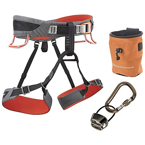Climbing Free Shipping. Black Diamond Men's Momentum SA Package DECENT FEATURES of the Black Diamond Men's Momentum SA Package Momentum SA harness ATC belay/rappel device Rocklock Screwgate locking carabiner BD chalk bag BD White Gold chalk The SPECS Weight: 12 oz / 350 g 210d nylon twill + 150d polyester mesh 4-way nylon knit The SPECS for Small Waist: 27 x 30in. / 69 x 76 cm Legs: 18 x 22in. / 45 x 56 cm The SPECS for Medium Waist: 30 x 33in. / 76 x 84 cm Legs: 20 x 24in. / 51 x 61 cm The SPECS for Large Waist: 33 x 36in. / 84 x 91 cm Legs: 22 x 26in. / 56 x 66 cm The SPECS for Extra Large Waist: 36 x 39in. / 91 x 99 cm Legs: 24 x 28in. / 61 x 71 cm ALL CLIMBING SALES ARE FINAL. - $99.95