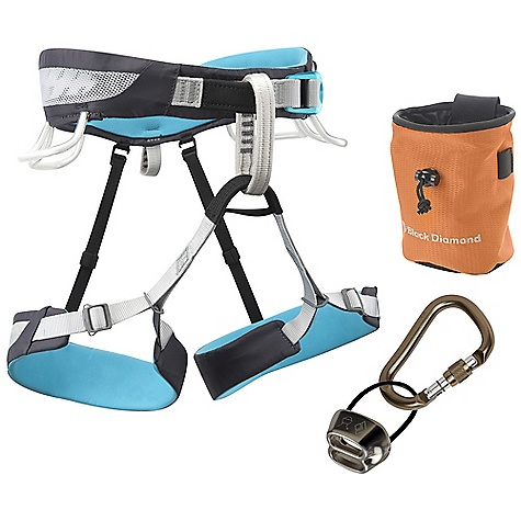 Climbing Free Shipping. Black Diamond Women's Primrose SA Package DECENT FEATURES of the Black Diamond Women's Primrose SA Package Primrose SA harness ATC belay/rappel device Rocklock Screwgate locking carabiner BD chalk bag BD White Gold chalk The SPECS Weight: 12 oz / 350 g 210d nylon twill + 150d polyester mesh 4-way nylon knit The SPECS for Extra Small Waist: 24 x 27in. / 61 x 69 cm Legs: 17 x 21in. / 43 x 53 cm The SPECS for Small Waist: 27 x 30in. / 69 x 76 cm Legs: 19 x 23in. / 48 x 58 cm The SPECS for Medium Waist: 30 x 33in. / 76 x 84 cm Legs: 21 x 25in. / 53 x 63 cm The SPECS for Large Waist: 33 x 36in. / 84 x 91 cm Legs: 24 x 28in. / 61 x 71 cm ALL CLIMBING SALES ARE FINAL. - $99.95