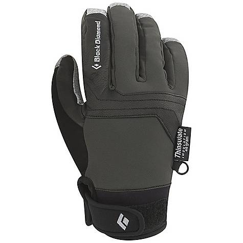 Free Shipping. Black Diamond Arc Glove FEATURES of the Black Diamond Arc Glove Fixed lining with 100% waterproof BDry insert 2-layer stretch-woven shell Fixed tricot lining 40 g Thinsulate insulation Pittards Oil Tac leather palm and capped fingers (not designed to withstand high-speed rappelling) Secure hook-and-loop closure with gusset at wrist - $69.95