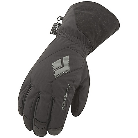 Free Shipping. Black Diamond Men's Glissade Glove DECENT FEATURES of the Black Diamond Men's Glissade Glove Fixed lining with 100% waterproof BDry insert Woven nylon, abrasion-resistant shell with combination 2-way and 4-way stretch Fixed lining has 100 g Thinsulate insulation on back of hand and 100 g fleece on palm Goat leather palm The SPECS Weight: per pair: 5.9 oz / 168 g Temperature Range: 0/30deg F / -17/-1deg C - $69.95