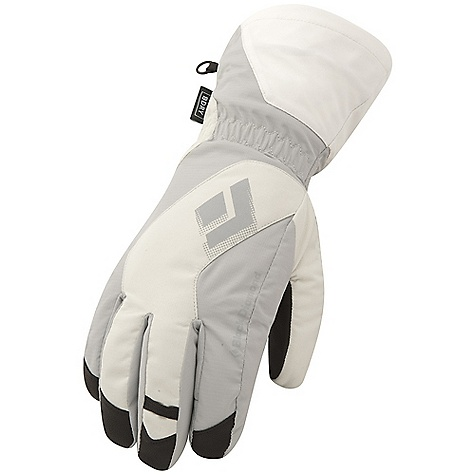 Free Shipping. Black Diamond Women's Glissade Glove DECENT FEATURES of the Black Diamond Women's Glissade Glove Fixed lining with 100% waterproof BDry insert Woven nylon, abrasion-resistant shell with combination 2-way and 4-way stretch Fixed lining has 100 g Thinsulate insulation on back of hand and 100 g fleece on palm Goat leather palm The SPECS Weight: per pair: 5.7 oz / 162 g Temperature Range: 0/30deg F / -17/-1deg C - $69.95
