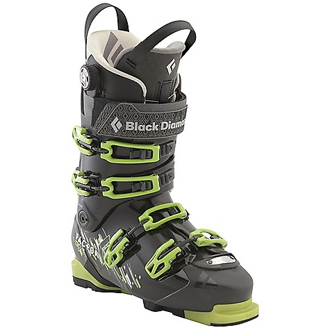 Ski Free Shipping. Black Diamond Men's Factor 130 Ski Boots DECENT FEATURES of the Black Diamond Men's Factor 130 Ski Boots Stiffer and more powerful than the Factor 110 Triax Pro Frame with Flex 130 and 20deg of resistance-free touring motion Plastic liner tongue for a smooth, evenly distributed flex, plus an extra-wide power strap Power Fit Liner features a 3:1 Boa closure system, warm aerogel-insulated strobel base and articulating zones for touring comfort Equipped with BD Alpine Sole Blocks and compatible with BD AT Sole Blocks with integrated tech inserts (sold separately) 102 mm V-shaped last The SPECS Weight: per pair: 9 lbs 5 oz / 4.22 kg Liner: Power Fit Frame Technology: Triax Pro Flex Index: 130 Buckles: 4 Stock Sole Blocks: Alpine Sole Blocks - $739.00