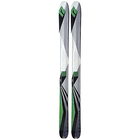 Ski Free Shipping. Black Diamond Justice Skis DECENT FEATURES of the Black Diamond Justice Skis Buoyant 115 mm waist and minimal camber for user-friendly backcountry powder skiing Rocker tip and Semi-Rocker tail for a balance of tip float and underfoot stability Wider and more rockered than the Drift for soft-snow specific touring Lightweight paulownia wood core surrounded by Torsion Box construction, plus carbon fiber reinforcements Formula One Technology with three ribs for maximum torsional stiffness, plus SkinLock tail tabs Optimal Use: 90% soft snow / 10% hard snow The SPECS for 175 cm Dimensions: 138 x 111 x 123 Turn Radius: 31 m Length: 175 cm Weight: Per Pair: 8 lbs / 3.6 kg Tip Style: 284 mm Rocker Tail Style: 114 mm Semi Rocker The SPECS for 185 cm Dimensions: 140 x 115 x 125 Turn Radius: 33 m Length: 185 cm Weight: Per Pair: 8 lbs 6 oz / 3.8 kg Tip Style: 300 mm Rocker Tail Style: 120 mm Semi Rocker - $699.00