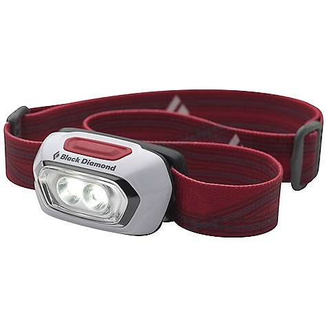 Camp and Hike Black Diamond Gizmo Headlamp DECENT FEATURES of the Black Diamond Gizmo 2 Single Power LEDs offer compact, proximity lighting at 35 lumens (max setting) Ultra compact batteries-in-the-front design uses 2 AAA batteries Settings include full strength, dimming and strobe Powers off after 2 hours to avoid accidental battery drain Protected against splashing or sprayed water from any angle (IPX 4) The SPECS Led Type: 2 SinglePower Max Lumens: 35 Max Distance on Highest Setting: 15 m Max Distance on Lowest Setting: 5 m Max Burntime on Highest Setting: 6 H Max Burntime on Lowest Setting: 72 H Batteries: 2 AAA included Weight With Batterie: 2 oz / 58 g - $19.95