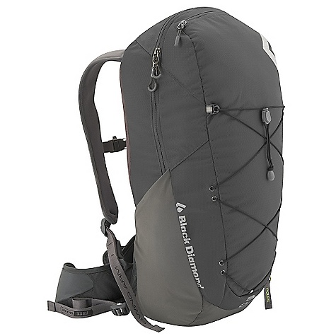Camp and Hike Free Shipping. Black Diamond Sonic Pack DECENT FEATURES of the Black Diamond Men's Sonic Pack ergoACTIV suspension with OpenAir backpanel Zippered panel access Soft, Breathable 3D mesh on hipbelt and shoulder straps Hipbelt stash pocket, Side stretch pockets and front cord compression and storage Retractable trekking pole/ice axe loop, Bike light slot, Hydration compatible Also available as women's-specific Chase The SPECS 210d nylon ripstop, 400d nylon twill The SPECS for Medium Volume: 1,465 cubic inches / 24 liter Average Stock Weight: 2 lbs 6 oz / 1.08 kg The SPECS for Large Volume: 1,587 cubic inches / 26 liter Average Stock Weight: 2 lbs 7 oz / 1.11 kg - $139.95