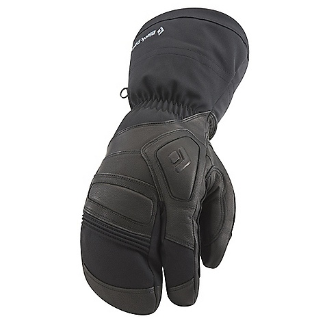 Free Shipping. Black Diamond Guide Lobster Glove DECENT FEATURES of the Black Diamond Guide Lobster Glove 100% waterproof and breathable Gore-Tex insert with XCR Product Technology stays with removable liner Abrasion-resistant, woven nylon shell with 4-way stretch Removable liner features 142 g PrimaLoft One and boiled wool 100 g fleece palm lining Goat leather palm and palm patch Molded EVA foam padding on knuckles for impact protection The SPECS Type: Unisex Weight: per pair: 11.3 oz / 320 g Temperature Range: -20/10deg F / -29/-12deg C - $169.95