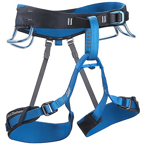 Climbing Free Shipping. Black Diamond Aspect Harness FEATURES of the Black Diamond Aspect Harness Pre-threaded Forged Speed Adjust waistbelt and leg loop buckles Forged construction allows for raised side rails on the buckles that help prevent webbing abrasion over time The upturned baseplate on buckles allows for easier lift when loosening the buckle Rear kick down on the top plate prevents slippage while climbing on the buckles Bullhorn-shaped waistbelt and leg loops built with Dual Core XP Construction 4 Pressure-molded gear loops and 12 kN-rated haul loop Bombshell abrasion patches are 20 times more durable than standard nylon fabric 4 Ice Clipper slots - $79.95