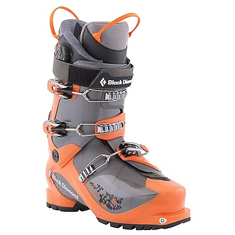 Ski Free Shipping. Black Diamond Men's Prime Ski Boots DECENT FEATURES of the Black Diamond Men's Prime Ski Boots Lightweight (1.64 kg, 3 lbs 10 oz each) 3-buckle alpine touring boot with 4-buckle performance Triax Pivot Frame with Flex 110, 40deg of resistance-free touring motion and locking QuickWire cuff buckles Efficient Fit AT Liner with 1:1 Boa closure system, comfort fit and articulating zones for ultimate, all-day, long lasting touring comfort Rockered, rubber outsole with integrated tech inserts provides dramatic grip and durability 103 mm V-shaped last with 100% thermoformable liner The SPECS Weight: per pair: 7 lbs 4 oz / 3.28 kg Size Range (Mondo, in Half Sizes Only): 24.5-30.5 Liner: Efficient Fit AT Light Frame Technology: Triax Pivot Flex Index: 110 # Buckles: 3 - $598.95