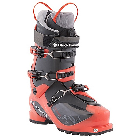 Ski Free Shipping. Black Diamond Slant Ski Boots DECENT FEATURES of the Black Diamond Slant Ski Boots Classic 3-buckle alpine touring boot (1.76 kg, 3 lbs 14 oz each) with 4-buckle performance for the weekend skier Triax Pivot Frame with Flex 110, 40deg of resistance-free touring motion and locking Quick Wire cuff buckles New Efficient Fit AT Lace Up Liner with single-pull lace closure, improved fit and articulating zones for ultimate touring comfort, plus an improved power strap Rockered, rubber outsole with integrated tech inserts provides dramatic grip and durability 103 mm V-shaped last The SPECS Weight: per pair: 7 lbs 12 oz / 3.52 kg Liner: Efficient Fit AT LaceUp Frame Technology: Triax Pivot Flex Index: 110 Buckles: 3 - $499.00