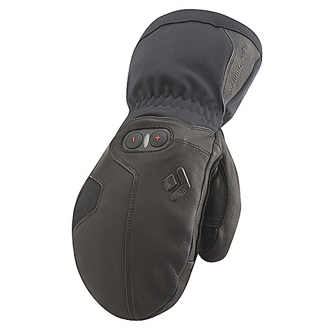 Free Shipping. Black Diamond Cayenne Mitt DECENT FEATURES of the Black Diamond Cayenne Mitt Midweight construction with Therm-ic 3-level heating system provides up to 10 hours of adjustable, added warmth Fixed lining with 100% waterproof and breathable Gore-Tex insert with XCR Product Technology Abrasion-resistant leather and woven nylon shell with 4-way stretch Fixed lining has 100 g PrimaLoft insulation on back of hand for warmer days when the heater is powered off Goat leather palm and palm patch Includes lithium-polymer batteries and charger The SPECS Weight: per pair: 15.5 oz / 440 g Temperature Range: -15/15deg F / -26/-9deg C - $399.95