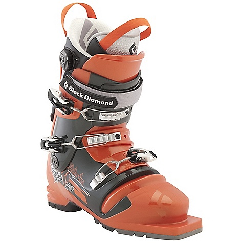 Ski Free Shipping. Black Diamond Men's Seeker Ski Boots DECENT FEATURES of the Black Diamond Men's Seeker Ski Boots Less touring resistance and softer flex than Freeride Series telemark boots Triax Tour Frame with Flex 100, MidStiff bellows and locking QuickWire cuff buckles Optimized ankle flexion for an ideal balance of cuff-to-bellows flex Efficient Fit Tele Liner with 1:1 Boa closure system features a warm aerogel-insulated Strobel base and articulating zones for touring comfort Compatible with 3-pin bindings 102 mm V-shaped last The SPECS Weight: per pair: 8 lbs / 3.5 kg Liner: Efficient Fit Tele Frame Technology: Triax Tour Flex Index: 100 Bellows: MidStiff Buckles: 3 - $638.95