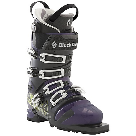 Ski Free Shipping. Black Diamond Men's Custom Ski Boots DECENT FEATURES of the Black Diamond Men's Custom Ski Boots Stiffer and more powerful than the Push Triax Pro Frame with Flex 130 and RidStiff bellows Plastic liner tongue for a smooth, evenly distributed flex, plus an extra-wide power strap Optimized ankle flexion for an ideal balance of cuff-to-bellows flex Power Fit Liner features a 3:1 Boa closure system, warm aerogel-insulated Strobel base and articulating zones for touring comfort 102 mm V-shaped last The SPECS Weight: per pair: 9 lbs / 4.05 kg Size Range (Mondo, in Half Sizes Only): 24.5-30.5 Liner: Power Fit Frame Technology: Triax Pro Flex Index: 130 Bellows: RidStiff # Buckles: 4 - $729.00
