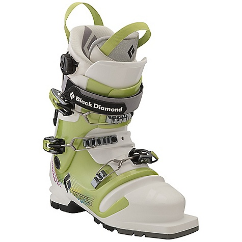 Ski Free Shipping. Black Diamond Women's Trance Ski Boots DECENT FEATURES of the Black Diamond Women's Trance Ski Boots Female-specific construction, less touring resistance and softer flex than Freeride Series telemark boots Triax Tour Frame with Flex 100, Mid Stiff bellows and locking Quick Wire cuff buckles Optimized ankle flexion for an ideal balance of cuff-to-bellows flex Women's Efficient Fit Tele Liner with 1:1 Boa closure system features a warm aerogel-insulated Strobel base and articulating zones for touring comfort Compatible with 3-pin bindings 102 mm V-shaped last The SPECS Weight: per pair: 7 lbs / 3.05 kg Liner: Efficient Fit Tele Frame Technology: Triax Tour Flex Index: 100 Bellows: MidStiff Buckles: 3 - $599.00
