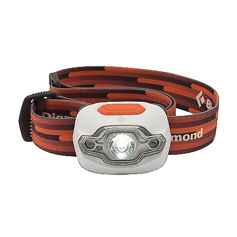 Camp and Hike Black Diamond Cosmo Headlamp DECENT FEATURES of the Black Diamond Cosmo Headlamp 1 DoublePower LED, 2 SinglePower white LEDs and 1 SinglePower red LED emit 70 lumens (max setting) Settings include full strength in proximity and distance modes, dimming, strobe and red night vision Red night vision mode has proximity and strobe settings, and activates without cycling through the white mode Sleek and low profile design uses 3 AAA batteries Single switch activates 3 modes plus dimming Protected against splashing or sprayed water from any angle (IPX 4) The SPECS LED Type: 1 DoublePower, 2 SinglePower Lumens: 70 Max Distances: 40 m (DoublePower LED) 25 m (SinglePower LEDs) Max Burn Time: 150 H (DoublePower LED) 250 H (SinglePower LEDs) Batteries: 3 AAA included Weight With Batteries: 90 g, 3.2 oz IPX Rating: 4 - $29.95