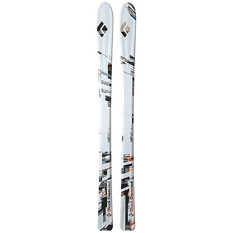 Ski Free Shipping. Black Diamond Aspect Skis DECENT FEATURES of the Black Diamond Aspect Skis Nimble 90 mm waist with Semi-Rocker tip and traditional tail Wider and with a more traditional contact length and touring ski shape than the Current Flat Sandwich with pre-preg composite construction and paulownia wood core 5 mm beveled ABS sidewall with Racing Edges SkinLock tail tabs Optimal use: 50% soft snow / 50% hard snow Stainless Steel SkinLock Clip The SPECS Type: Unisex Tail Style: Traditional The SPECS for 166 cm Length: 166 cm Dimension: 125 x 90 x 112 Weight: per pair: 6 lbs / 2.7 kg Turn Radius: 18 m Tip Style: 245 mm Rocker The SPECS for 176 cm Length: 176 cm Dimension: 127 x 90 x 113 Weight: per pair: 6 lbs 6 oz / 2.9 kg Turn Radius: 19 m Tip Style: 260 mm Rocker The SPECS for 186 cm Length: 186 cm Dimension: 129 x 90 x 114 Weight: per pair: 7 lbs / 3.1 kg Turn Radius: 20 m Tip Style: 275 mm Rocker - $729.00