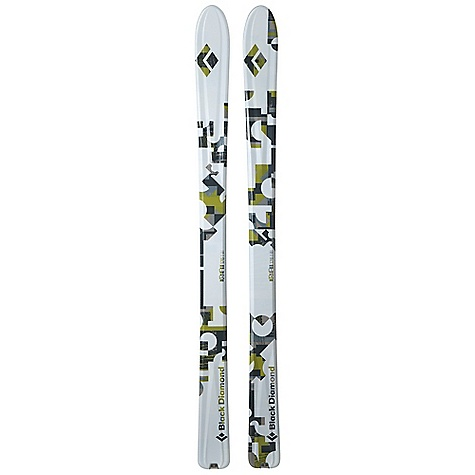 Ski Free Shipping. Black Diamond Drift Skis DECENT FEATURES of the Black Diamond Drift Skis Versatile 100 mm waist and underfoot camber for confidence on both soft and hard snow Semi-Rocker tip and new Semi-Rocker tail for easy trail breaking and early float, with improved turn release Wider and with a longer contact length than the Revert for a more traditional touring ski shape Lightweight paulownia wood core surrounded by Torsion Box construction, plus carbon fiber reinforcements Formula One Technology with three ribs for maximum torsional stiffness, plus SkinLock tail tabs Optimal use: 70% soft snow / 30% hard snow The SPECS for 166 cm Length: 166 cm Dimension: 134 x 100 x 120 Weight: per pair: 6 lbs 6 oz / 2.9 kg Turn Radius: 20 m Tip Style: 218 mm Semi Rocker Tail Style: 94 mm Semi Rocker The SPECS for 176 cm Length: 176 cm Dimension: 136 x 100 x 122 Weight: per pair: 6 lbs 10 oz / 3 kg Turn Radius: 21 m Tip Style: 231 mm Semi Rocker Tail Style: 100 mm Semi Rocker The SPECS for 186 cm Length:186 cm Dimension: 138 x 100 x 123 Weight: per pair: 7 lbs 11 oz / 3.5 kg Turn Radius: 22 m Tip Style: 245 mm Semi Rocker Tail Style: 106 mm Semi Rocker - $779.00
