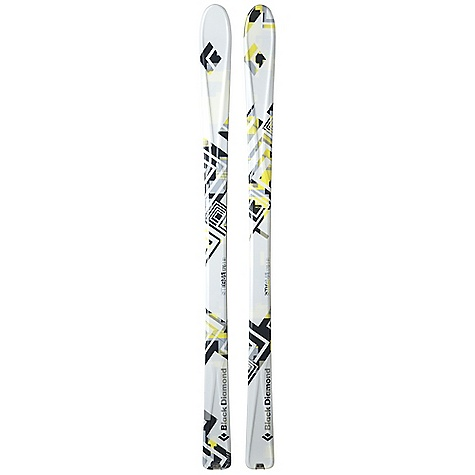 Ski Free Shipping. Black Diamond Stigma Skis DECENT FEATURES of the Black Diamond Stigma Skis Nimble 80 mm waist with Semi-Rocker tip Our lightest and most traditional touring ski Flat Sandwich with pre-preg composite construction and paulownia wood core 5 mm beveled ABS sidewall with Racing Edges SkinLock tail tabs Optimal use: 30% soft snow / 70% hard snow Stainless Steel SkinLock Clip The SPECS Type: Unisex Tail Style: Traditional The SPECS for 168 cm Length: 168 cm Dimension: 114 x 80 x 104 Weight: per pair: 5 lbs 11 oz / 2.6 kg Turn Radius: 18 m Tip Style: 250 mm Rocker The SPECS for 176 cm Length: 176 cm Dimension: 115 x 80 x 105 Weight: per pair: 6 lbs / 2.8 kg Turn Radius: 19 m Tip Style: 262 mm Rocker - $679.00