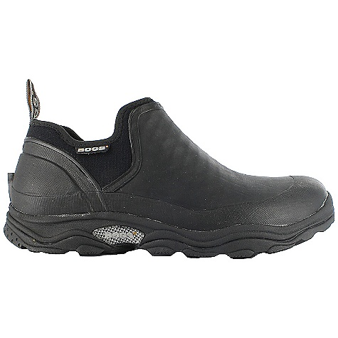 Camp and Hike Free Shipping. Bogs Men's Bridgeport Shoe DECENT FEATURES of the Bogs Men's Bridgeport Shoe 100% Waterproof Durable hand-lasted rubber hiker with a four way stretch inner bootie Constructed with 4mm waterproof Neo-Tech + 2mm Air-mesh insulation Max-Wick moisture wicking lining to stay dry and comfortable Channel Air to maximize airflow and reduce moisture Slip resistant, non-marking, and self-cleaning outsole Dual density contoured moisture wicking insole with Ortholite Comfort rated from temperate to sub-zero conditions This product can only be shipped within the United States. Please don't hate us. - $109.95