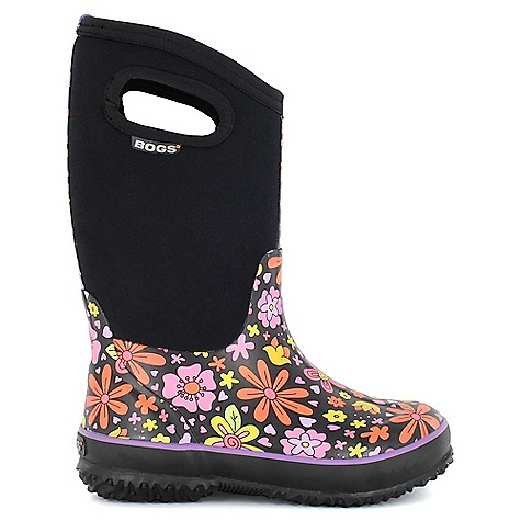 On Sale. Free Shipping. Bogs Kids' Classic Crazy Daisy Boot DECENT FEATURES of the Bogs Kids' Classic Crazy Daisy Boot 100% Waterproof Durable hand-lasted rubber over a four way stretch inner bootie Constructed with 7mm waterproof Neo-Tech insulation Max-Wick moisture wicking lining to stay dry and comfortable Non-marking and self-cleaning outsole Aegis antimicrobial odor protection insole Easy-on pull handles Comfort rated from temperate to -30deg F This product can only be shipped within the United States. Please don't hate us. - $61.99