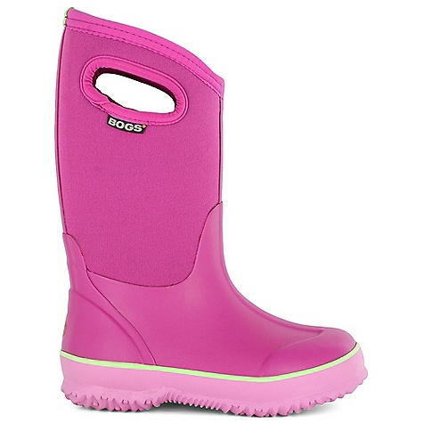 On Sale. Free Shipping. Bogs Kids' Classic Solids Boot DECENT FEATURES of the Bogs Kids' Classic Solids Boot 100% Waterproof Durable hand-lasted rubber over a four way stretch inner bootie Constructed with 7mm waterproof Neo-Tech insulation Max-Wick moisture wicking lining to stay dry and comfortable Non-marking and self-cleaning outsole Aegis antimicrobial odor protection insole Easy-on pull handles Comfort rated from temperate to -30deg F This product can only be shipped within the United States. Please don't hate us. - $53.99