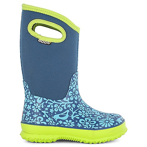 Free Shipping. Bogs Kids' Classic Sprout Boot DECENT FEATURES of the Bogs Kids' Classic Sprout Boot 100% Waterproof Durable hand-lasted rubber over a four way stretch inner bootie Constructed with 7mm waterproof Neo-Tech insulation Max-Wick moisture wicking lining to stay dry and comfortable Non-marking and self-cleaning outsole Aegis antimicrobial odor protection insole Easy-on pull handles Comfort rated from temperate to -30deg F This product can only be shipped within the United States. Please don't hate us. - $77.95