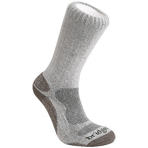 Bridgedale Men's Bamboo Crew Sock DECENT FEATURES of the Bridgedale Men's Bamboo Crew Sock Cushioned forefoot for comfort and protection Shaped mesh for coolness and quick drying Lycra construction in the heel for improved fit - $14.95