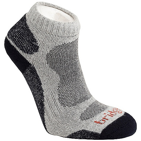 Bridgedale Men's Bamboo Lo Sock DECENT FEATURES of the Bridgedale Men's Bamboo Lo Sock Double cuff, low cut height Next to skin freshness and highly breathable Lycra construction in the heel for improved fit - $12.95
