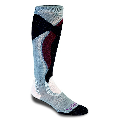On Sale. Bridgedale Women's Winter Midweight Control Fit Sock DECENT FEATURES of the Bridgedale Women's Winter Midweight Control Fit Sock Mapped cushioning for toe warmth Lightly graduated compression for leg comfort Friction-Free heel and ankle for easy boot entry - $13.99