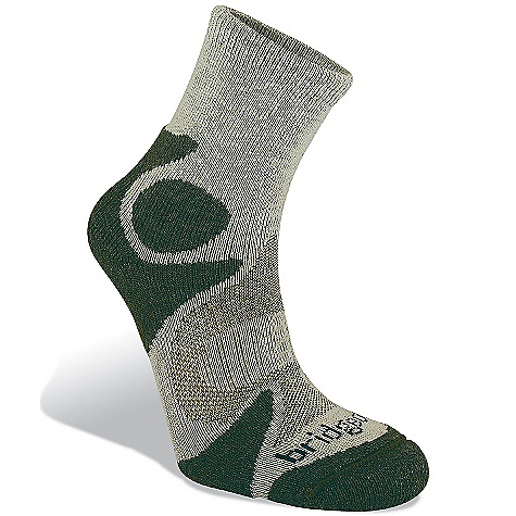 Bridgedale Men's Cool Fusion Trailhead Sock DECENT FEATURES of the Bridgedale Men's Cool Fusion Trailhead Sock Midweight comfort - Ultra light breathability Dorsal pad extends to wrap forefoot T2 - Dual Density cushioning - $16.95