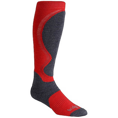 On Sale. Bridgedale Men's Winter Lightweight Heel Fit Sock DECENT FEATURES of the Bridgedale Men's Winter Lightweight Heel Fit Sock Thin forefoot for performance fit Mapped heel and ankle cushioning improves heel fit Shin pad shape improves comfort at boot tongue - $13.99