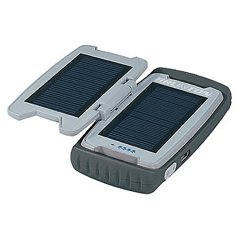 Camp and Hike Free Shipping. Brunton Restore Solar Panel DECENT FEATURES of the Brunton Restore Solar Panel Water resistant Durable rubberized shell Internal rechargeable Lithium Polymer battery Power gauge and auto shut-off Solar Panel: Two (2) 100 mA polycrystalline Battery Storage: 2,200 mAh battery Output: 1,000 mA / 5V (USB 2.0 compatible) Dimensions: 5.5in. x 3in. x 1.25in. Weight: 8.6 oz Mini-USB output Charges from solar panel, computer USB or from included DC adapter - $86.00