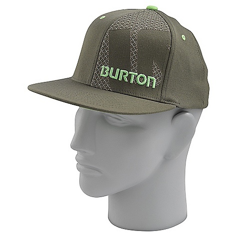 Snowboard On Sale. Burton Grid Line FlexFit DECENT FEATURES of the Burton Grid Line FlexFit 98% Cotton, 2% Spandex Fabric Filled Process Logo Embroidery Applique X-Fit with Curved Visor This product can only be shipped within the United States. Please don't hate us. - $13.99
