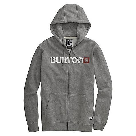 Snowboard On Sale. Free Shipping. Burton Men's Logo Horizontal Full-Zip Hoodie DECENT FEATURES of the Burton Men's Logo Horizontal Full-Zip Hoodie Word Mark Logo Print on Chest Kangaroo Pocket with Interior Media Stash The SPECS 80% Cotton 20% Polyester 300G Fleece This product can only be shipped within the United States. Please don't hate us. - $39.99