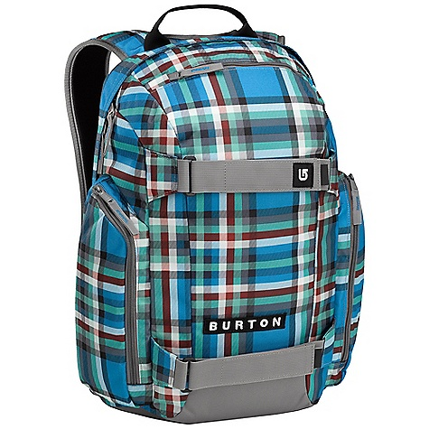 Snowboard On Sale. Free Shipping. Burton Metalhead Pack DECENT FEATURES of the Burton Metalhead Pack Fabrication: 600D Polyester / 300D Polyester Dobby Padded Laptop Pocket: [11.5 in. x 10 in. x 1.5 in.]/ [29cm x 26cm x 4cm] Vertical Skate Carry Separate Cooler Compartment Cush Ergonomic Shoulder Harness with Adjustable Sternum Strap Fleece-Lined Sound Pocket The SPECS Volume: 26 liters Weight: 1.7 lbs. / 0.7kg Dimensions: 18.5 in. x 12 in. x 8 in., 47cm x 31cm x 22cm This product can only be shipped within the United States. Please don't hate us. - $31.99