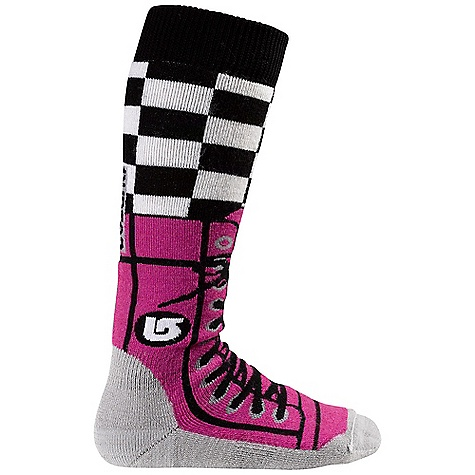 Snowboard On Sale. Burton Girls' Party Sock DECENT FEATURES of the Burton Girls' Party Sock Varying Blends of Nylon, Acrylic, Merino Wool, and Spandex Quick-Drying and Stink- Proof Polypropylene Reinforced Footbed Medium-Density Cushioning Throughout Sock Elastic Arch and Ankle Supports Chafe-Free Link Toe Seam Stay High Comfort Band Midweight This product can only be shipped within the United States. Please don't hate us. - $12.99