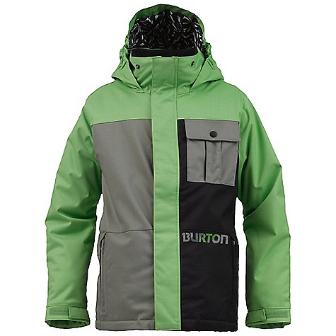 Snowboard On Sale. Free Shipping. Burton Boys' Sludge Jacket DECENT FEATURES of the Burton Boys' Sludge Jacket Waterproofing: Dry Ride Durashell 2-Layer Cross Hatch Herringbone Fabric and New Aquapel DWR Coating Warmth: mapped with Thermacore Insulation (120G Body / 80G Sleeves, Hood, and Collar) and Taffeta Lining Mesh-Lined Pit Zips Velcro Closure Chest Pockets Zippered Hand warmer Pockets Includes Boys' Jacket Features Package This product can only be shipped within the United States. Please don't hate us. - $68.99