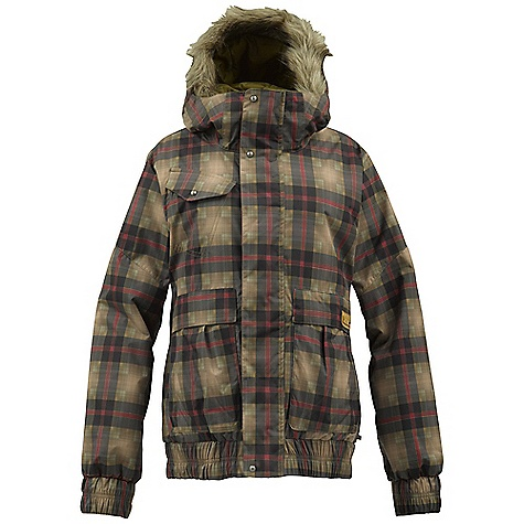 Snowboard On Sale. Free Shipping. Burton Women's Tabloid Jacket DECENT FEATURES of the Burton Women's Tabloid Jacket Waterproofing: Dryride Durashell 2-Layer Herringbone Fabric Faux Denim Fabric (HexColorway Only) Warmth: Quad Package mapped with Zonal 3M Thinsulate Platinum Insulation 100G Body / 60G Sleeves) and Satin and Embossed Taffeta Lining Mesh-Lined Pit Zips Critically Taped Seams Plush Collar Fulltime Contour Hood with Removable Faux Fur Trim Removable Waist Gaiter with Jacket-to-Pant Interface Includes Women's Burton Jacket Features Package This product can only be shipped within the United States. Please don't hate us. - $158.99