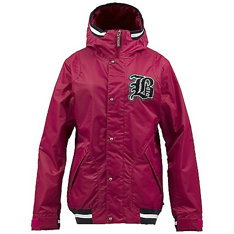 Snowboard On Sale. Free Shipping. Burton Women's Varsity Jacket DECENT FEATURES of the Burton Women's Varsity Jacket Waterproofing: NEW Dryride Nanoshell 2-Layer Nylon Fabric Warmth: Quad Package mapped with Zonal 3M Thinsulate Platinum Insulation (60G Body / 40G Sleeves) and Embossed Taffeta Lining Mesh-Lined Pit Zips Fulltime Contour Hood Fully Taped Seams Plush Collar Removable Waist Gaiter with Jacket-to-Pant Interface Includes Women's Burton Jacket Features Package This product can only be shipped within the United States. Please don't hate us. - $174.99