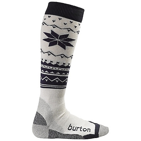 Snowboard On Sale. Burton Women's WMS Ultralight Wool Sock DECENT FEATURES of the Burton Women's WMS Ultralight Wool Sock 43% Nylon / 26% Acrylic / 15% Merino Wool / 8% NanoGlide / 6% Polypropylene / 2% Spandex Quick-Drying and Stink- Proof Polypropylene Reinforced Footbed Elastic Arch and Ankle Supports Chafe-Free Link Toe Seam Sock Lock Reinforcements DryrideUltrawick Venting Toe Panels Ergonomic, Articulated Left and Right MotionFit Stay High Comfort Band Lightweight This product can only be shipped within the United States. Please don't hate us. - $11.99