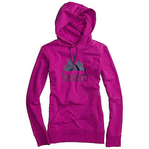 Snowboard On Sale. Free Shipping. Burton Women's Mountain Logo Basic Pullover Hoodie DECENT FEATURES of the Burton Women's Mountain Logo Basic Pullover Hoodie 85% Cotton, 12% Polyester, 3% Spandex, 280G Fleece Screen Print at Chest Regular Fit This product can only be shipped within the United States. Please don't hate us. - $39.99