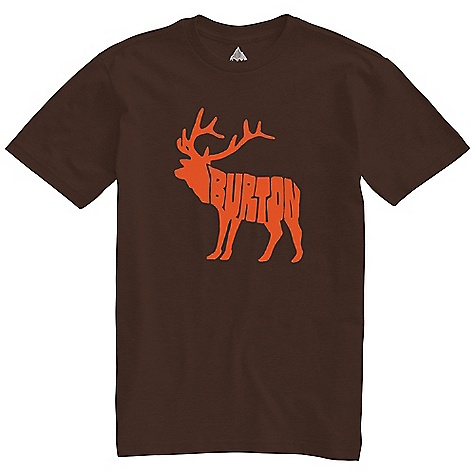 Hunting On Sale. Burton Men's Moose SS Slim Fit Tee DECENT FEATURES of the Burton Men's Moose Short Sleeve Slim Fit Tee 50% Cotton, 50% Polyester (Heather Grizzly and Heather Saffron) 100% Cotton All Other Colorways Pre-Washed Fabric with Silicone Treatment Screen Print on Front Slim Fit This product can only be shipped within the United States. Please don't hate us. - $16.99